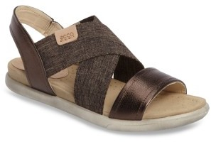 Women's Ecco Damara Cross-Strap Sandal $119.95 thestylecure.com
