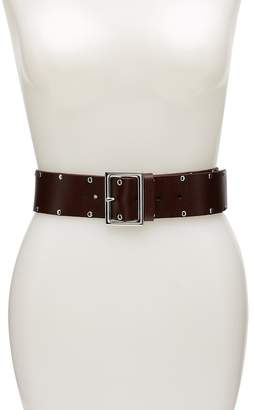 Frame Studded Classic Leather Belt