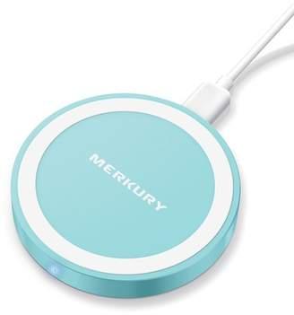 Merkury Innovations Light Mint 5W Round Metallic Wireless Charging Pad