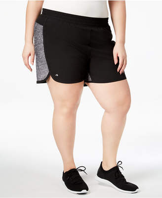 Ideology Plus Size Woven Performance Shorts, Created for Macy's