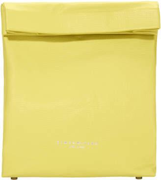 Simon Miller Foldover Yellow Leather Lunchbag