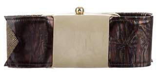Paule Ka Leather Clutch Bag