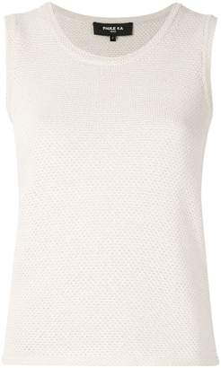 Paule Ka sleeveless fitted sweater