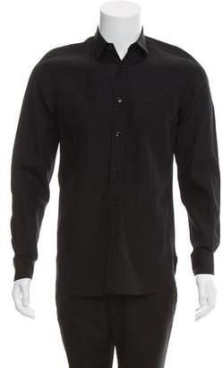 Saint Laurent Signature Dylan Collar Button-Up Shirt