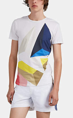 "Orlebar Brown Men's ""Prism""-Print Cotton T-Shirt - White"