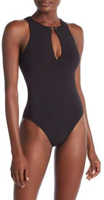 Robin Piccone Luca High Neck One-Piece Swimsuit