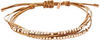 Fossil Rose Gold Dainty Rondel Slider Women's Bracelet