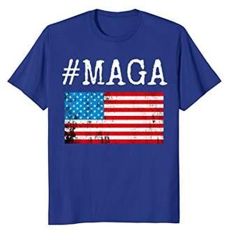 Patriotic Vintage Distressed #MAGA Maga T-Shirt