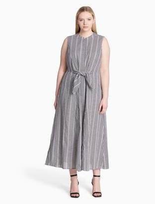 Calvin Klein plus size gingham maxi dress