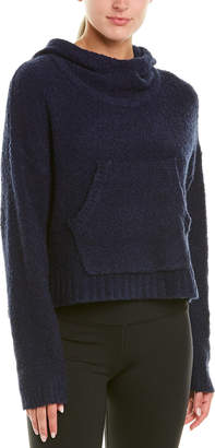 New Balance Boucle Cozy Crop Wool-Blend Pullover