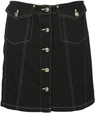 Versace Buttoned Mini Skirt