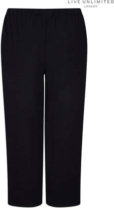 Next Womens Live Unlimited Black Woven Side Stripe Trouser