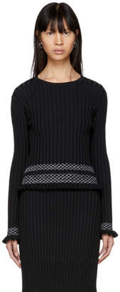 Altuzarra Black Malou Crewneck Sweater