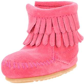 Minnetonka Double Fringe Side Zip, Unisex Kids Ankle Boots,10 Child UK (28/29 EU)