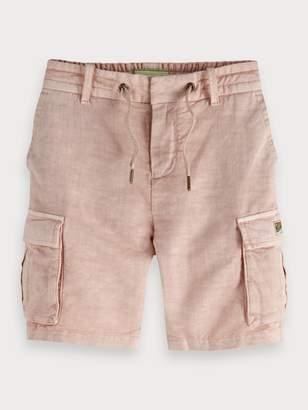 Scotch & Soda Cotton-Linen Cargo Shorts