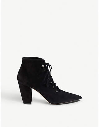 Miu Miu Suede lace-up ankle boots