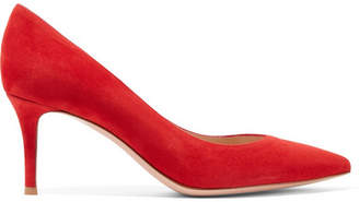 Gianvito Rossi 70 Suede Pumps - Red