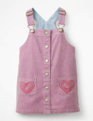 Boden Button-front Dungaree Dress