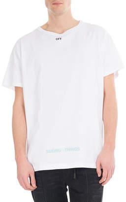 Off-White Big Square Cotton T-Shirt