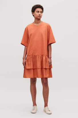 Cos FRILL-DETAILED COTTON DRESS