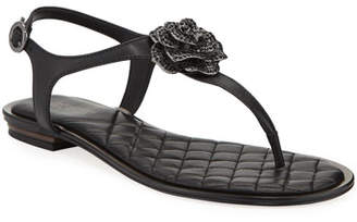 MICHAEL Michael Kors Lucia Leather Thong Sandals