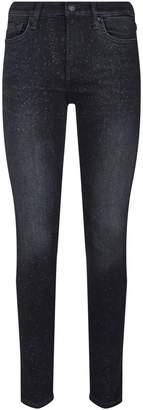 7 For All Mankind Glitter Skinny Slim Illusion Jeans
