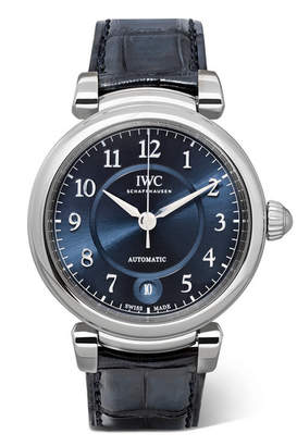IWC SCHAFFHAUSEN - Da Vinci Automatic 36mm Stainless Steel And Alligator Watch - Silver