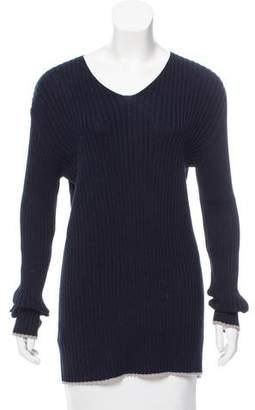 Dolce & Gabbana Rib-Knit V-Neck Sweater