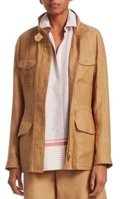 Loro Piana Guibbotto Linen-Blend Traveller Jacket
