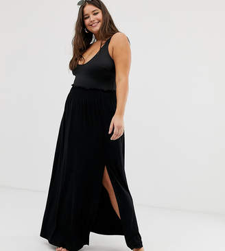 Asos DESIGN Curve shirred waist maxi