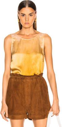 Raquel Allegra Low Back Tank in Golden Sun Tie Dye | FWRD