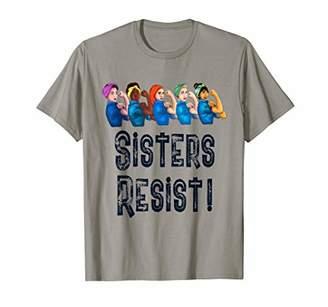 22e35fd6 Sisters Resist Quote Women Feminist T Shirt Rosie Riveter