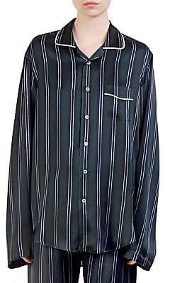 Loewe Women's Stripe Silk Pajama Shirt