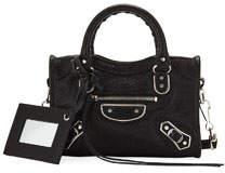 Metallic Edge Nano City AJ Crossbody Bag Black