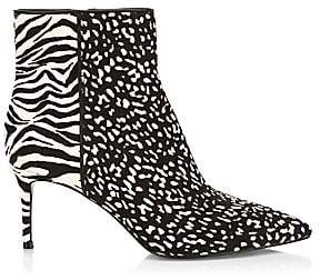 Alice + Olivia Women's Fayla Animal-Print Calf Hair Point-Toe Booties