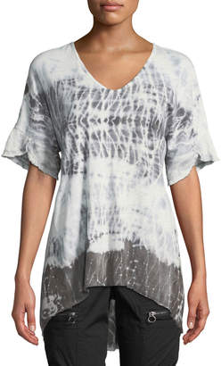 XCVI Philo Short-Sleeve Tie-Dye Tunic