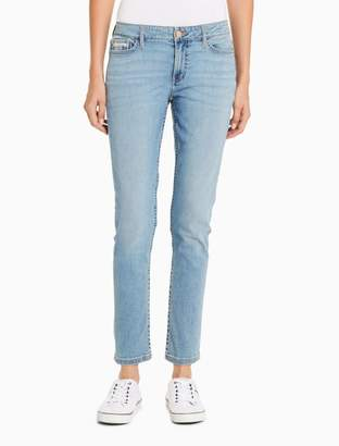 Calvin Klein skinny light blue ankle jeans