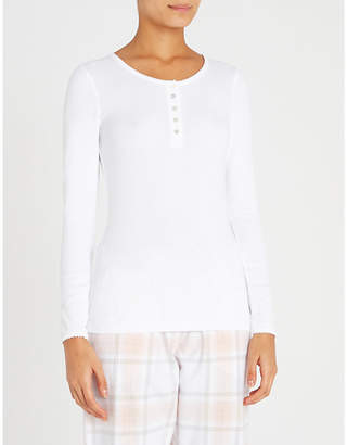 The White Company Henley cotton-blend pyjama top
