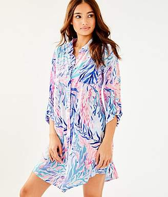 742888755013a Lilly Pulitzer Natalie Shirtdress Cover-Up