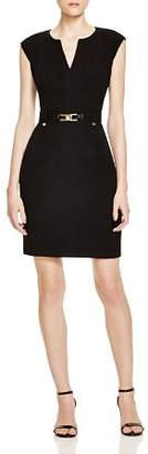 Calvin Klein Buckled Sheath Dress