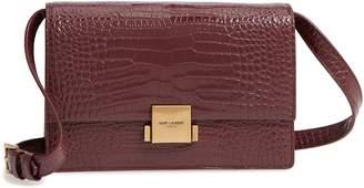Saint Laurent Medium Bellechasse Croc Embossed Leather Shoulder Bag