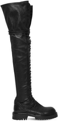 Ann Demeulemeester 30mm Stretch Leather Over-The-Knee Boots