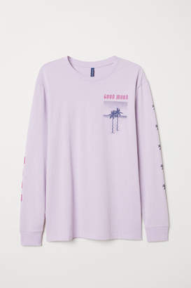 H&M Long-sleeved Shirt - Purple
