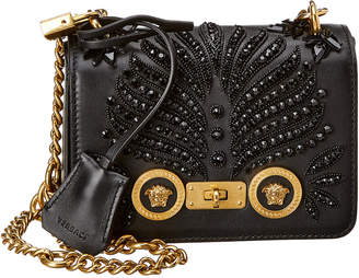 Versace Small Icon Leather Shoulder Bag