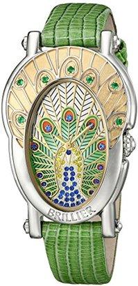 Brillier レディース19 – 02 GRロイヤルPlumeアナログ表示SwissクオーツGreen Watch