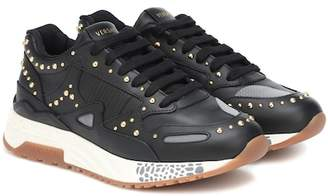 Versace Achilles leather sneakers