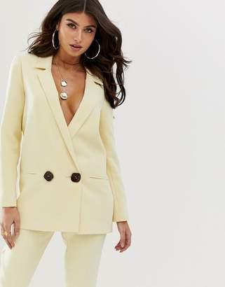 Asos Design DESIGN buttermilk suit blazer