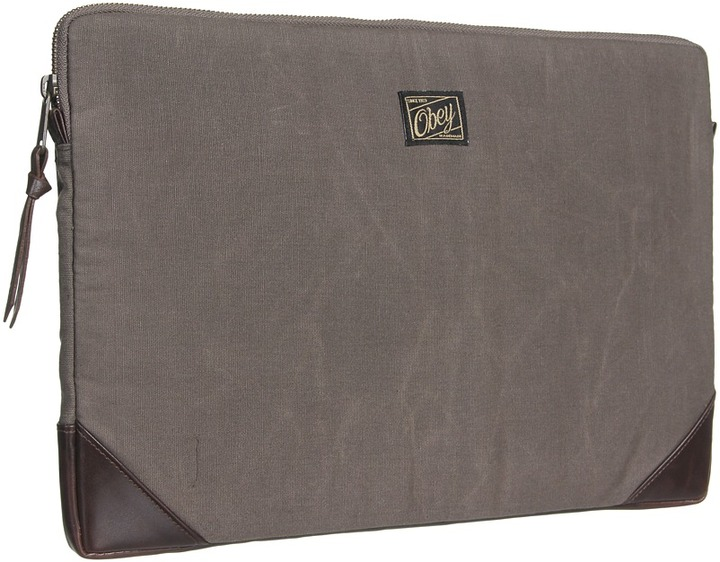 Obey Passenger Notebook Sleeve (Army) - Bags and Luggage