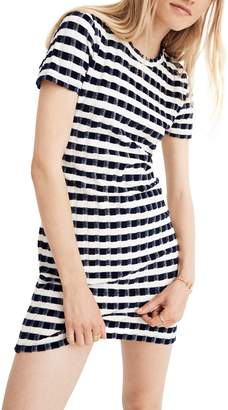 Madewell Velvet Stripe T-Shirt Dress
