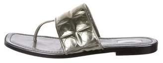 Calvin Klein Collection Metallic Thong Sandals